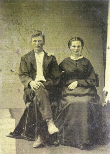 John Edwin Courtney & Mary Elizabeth Harper Courtney Circa 1873